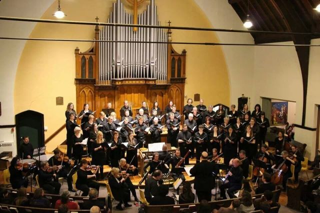 Near North Voices with orchestra and soloists performing Mozart's Requiem, Sunday March 30, 2014 at St. Andrew's United Church, North Bay.